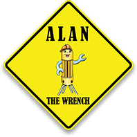 Alan The Wrench logo