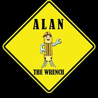 Alan The Wrench logo